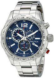 Nautica Men's NAD18503G NST 30 Analog Display Quartz Blue Watch