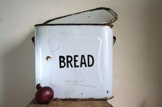 Vintage Enamel Bread Box / Canister