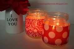crafts made with babyfood jars | Increasingly Domestic: Upcycled Baby Food Jars to Tealight Holders