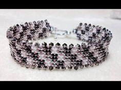 Instructions for the Fire Polish Ombre Right Angle Weave Bracelet Kit - YouTube