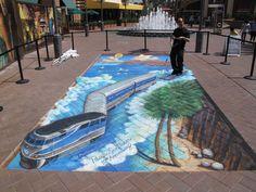 25 Incredible Examples of Street Art Illusions 3d Street Painting, 3d Street Art, Street Art Graffiti, Street Artists, Graffiti Canvas Art, The Other Art Fair, Sidewalk Art, Illusion Art, Fantastic Art