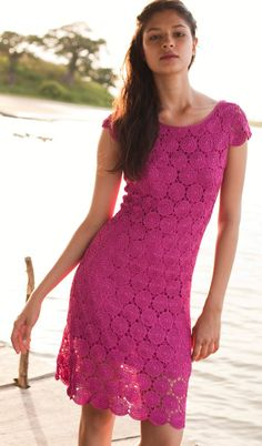 MyPicot | Free crochet patterns - I love this dress! Need to learn to crochet from a chart!