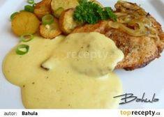 Kuřecí prsa s omáčkou recept - TopRecepty.cz What To Cook, Poultry, Ham, Mashed Potatoes, Good Food, Food And Drink, Menu, Tasty, Cooking