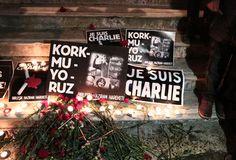 Taksim'de Charlie Hebdo saldırısı protesto edildi