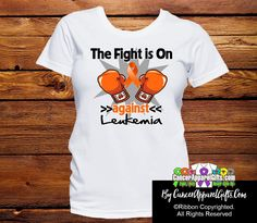 Shop eye-catching Leukemia shirts with an array of orange ribbon styles to stand strong for your cause. September is National Leukemia Awareness Month. Leukemia Awareness, Kidney Cancer, Pink Out, Awareness Ribbons, T Shirts With Sayings, A Team, Shirt Designs, T Shirts For Women, Bone Marrow