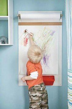 Resim yapıp boyayabileceğim bir alan olursa duvarları, dolapları, koltukları boyamam ☺ siz de rahat edersiniz ben de ;) #çocuklariçin #çocukeğitimi #çocuklar #Kids #forkids