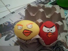 1st set of Angry Bird Easter Eggs!