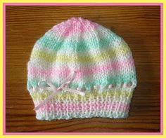 marianna's lazy daisy days: Candystripe Knitted Baby Hats