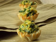 Connoisseurus Veg: Vegan Mini Spinach Quiches