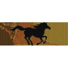 RUNNING HORSE - PEYOTE beading pattern for cuff bracelet (buy any 2 patterns - get 3rd FREE)