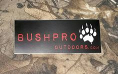 Bushpro outdoors sticker pack. 3 for 1  Price: & FREE Shipping  #hunting Outdoor Stickers, Hunting, Survival, Outdoors, Packing, Free Shipping, Bag Packaging, Outdoor, Outdoor Rooms