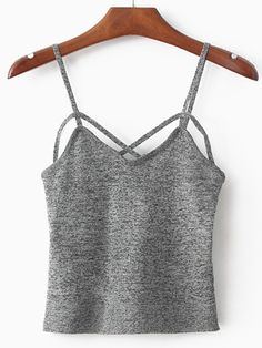 10$  Buy now - http://dimct.justgood.pw/go.php?t=881 - Spaghetti Strap Grey Cami Top