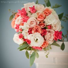 I also like the peach color in this bouquet