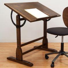 Studio Designs Vintage Wood Drafting Table
