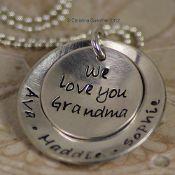 We Love You Grandma:  Abbie - Halie- Layla(granddog)  This would make a great gift