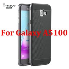 Original iPaky Luxury Fashion Armor Silicone Back Cover with Frame Case For Samsung Galaxy A5 2016 A5100 / A7 2016 A7100