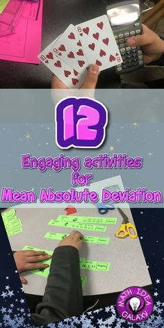 Blog post jam packed with activities and resources for teaching mean absolute deviation (MAD). Includes ideas for reviewing absolute value and finding the mean as well. Check it out :-)