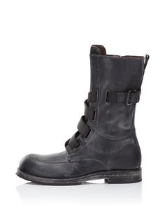 Leather High Top Boot