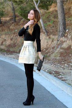 jupe collants 10 belles tenues - #belles #Collants #jupe #tenues