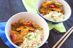 Κοτόπουλο Κάρυ με Ρύζι Μπασμάτι Pilau Rice, Asian Recipes, Ethnic Recipes, Thai Red Curry, Food And Drink, Dishes, Chicken, Cooking, Kitchen