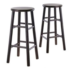 Winsome Wood Set of 2 Dark Espresso Bar Stool at Lowe's. Upgrade the decor of your room with these Tabby beveled seat bar stools. Crafted of sturdy solid wood in a rich espresso finish, this set will make a 30 Inch Bar Stools, Cool Bar Stools, Swivel Bar Stools, Home Bar Furniture, Wooden Furniture, Buffets Furniture, Furniture Deals, Distressed Furniture, Furniture Outlet