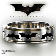 Batman wedding band.... I might have to get this for my future husband!!! Cause my future husband WILL like Batman!! LOL