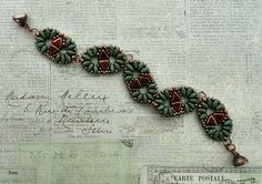 Linda's Crafty Inspirations: Bracelet of the Day: Duo Kheops Bracelet - Turquoise & Copper