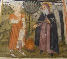 Illumanu: 15th century Italy  Bastia Mondovi, Chiesa di San Fiorenzo  Episodes from the Life of St Anthony Abbot (?)