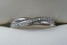 Beautiful Crossover #platinum #diamond ring. http://www.orlajames.com/cross-over-ring-set-with-diamonds