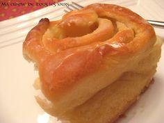 Brioches à l'érable Galette, Bagel, Food And Drink, Bread, Breakfast, Pains, Croissant, Pizza, Treats