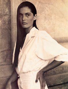 Calvin Klein Sport, white shirt, 1988