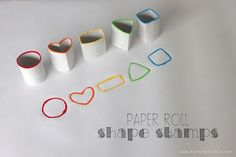 : Paper Roll Shape Stamps | Mama Papa Bubba