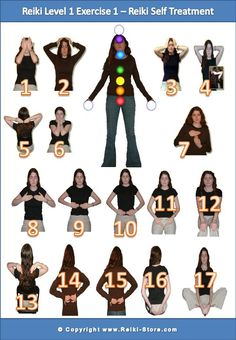 self healing reiki hand positions - Google Search