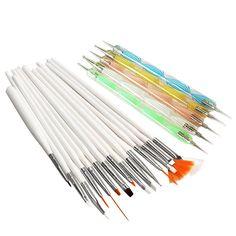 New Nail Art Design Dipinto Strumento Penna Polacca Brush Set Kit Professionale Nail Spazzole Styling Strumenti di Arte Del Chiodo