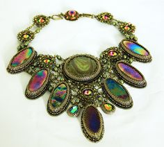 Bead embroidery necklace by madebykim