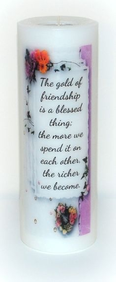 Friendship candles inspiration candle by DesignsbyDMCandles