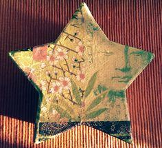 Caixa estrella decoupage