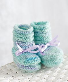 FREE knitting pattern: Regia Baby Booties - Available at LoveKnitting.