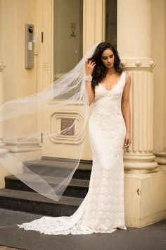 The Saasha wedding dress by Anna Campbell featured on LOVE FIND CO. Crepe Wedding  Dress b4de6972ae8f