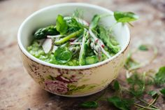 Asparagus Risotto Verde - Can't wait for spring to come around again.