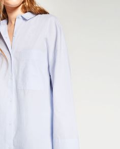 Image 4 of OVERSIZED POPLIN SHIRT from Zara