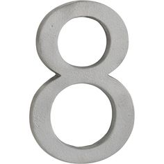CB2 House Number 8 ($9.95) ❤ liked on Polyvore featuring home, outdoors, outdoor decor, numbers, words, garden wall decor, cb2, outdoor wall decor and outdoor garden wall decor