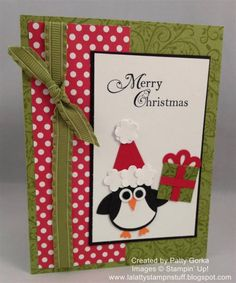 Christmas Penguin by LaLatty - Cards and Paper Crafts at Splitcoaststampers