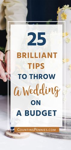 Brilliant Tips To Throw A Wedding On A Budget. You can buck the trends and still have a wedding day that you'll treasure for years to come. Click to learn more on how to plan your dream budget friendly wedding.
