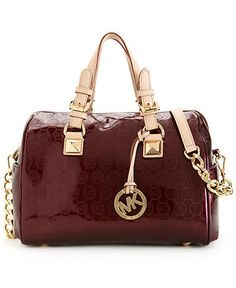 MICHAEL Michael Kors Handbag, Monogram Patent Satchel - Satchels - Handbags & Accessories - Macy's
