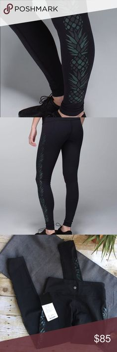 NEW Lululemon Pineapple Wunder Unders New with tags • full on luon • no flaws! lululemon athletica Pants Leggings