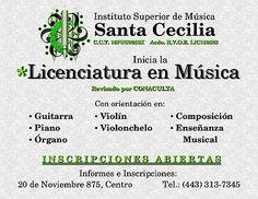 Licenciatura en Música con R.V.O.E. de SEP  #Licenciatura, #En, #Música, #Con, #RVOE, #De, #SEP