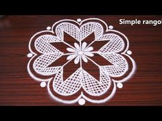 RANGOLI are thought to bring prosperity to homes. Every morning millions of women draw kolams on the ground with white rice flour. Rangoli Kolam Designs, Rangoli Designs With Dots, Beautiful Rangoli Designs, Latest Rangoli, Padi Kolam, Special Rangoli, Free Hand Rangoli, Diy Flowers, Flower Diy