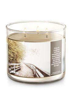 "Bath And Body Works Candle ""Flannel"" -  Crisp Autumn Air, Bergamot, Heirloom Mahogany, Soft Musk"