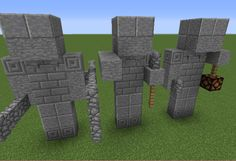Statues of Warriors - GrabCraft - Your number one source for MineCraft buildings, blueprints, tips, ideas, floorplans!